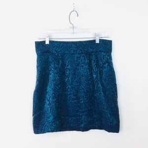 Silence + Noise Urban Outfitters Metallic Skirt